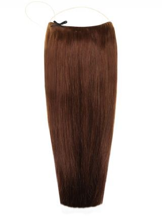 Premium Halo Chocolate Brown #4 Hair Extensions