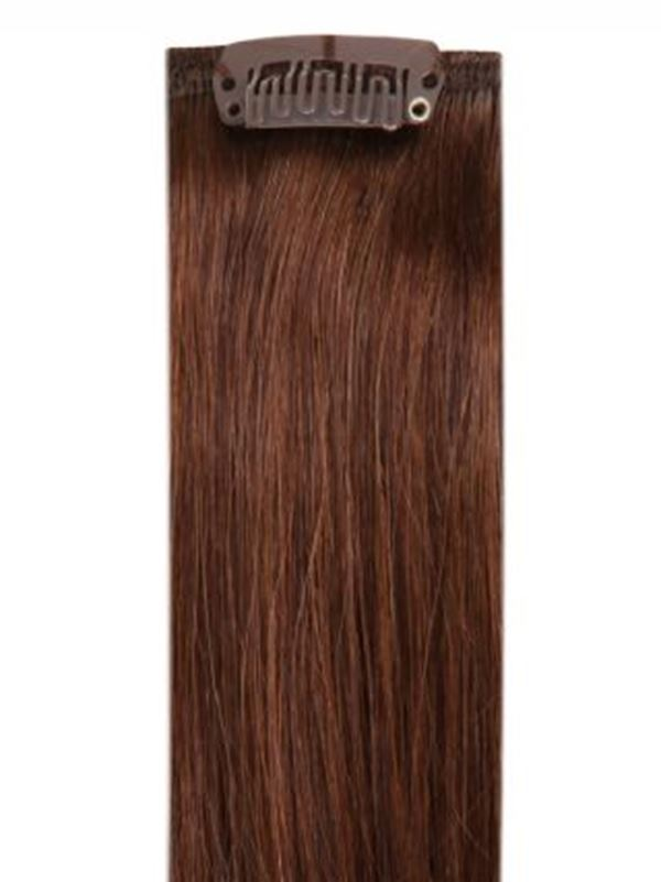 Deluxe Head Clip-In Chocolate Brown #4 Hair Extensions
