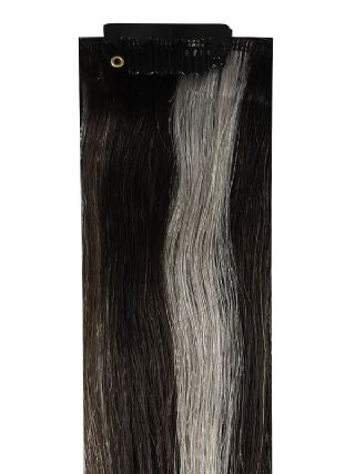 Deluxe Head Clip-In Salt & Pepper #5AA/Silver Hair Extensions