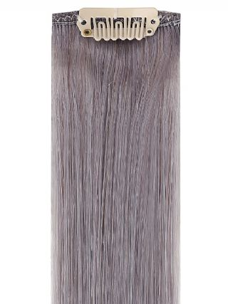Deluxe Head Clip-In Grey Hair Extensions