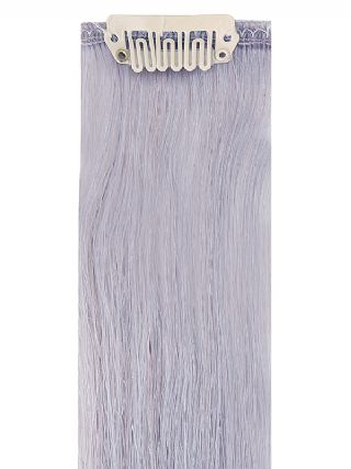 Deluxe Head Clip-In Silver Hair Extensions