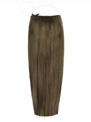 Premium Halo Dark Ash Brown #7 Hair Extensions