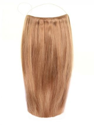 Premium Halo Golden Brown #12 Hair Extensions