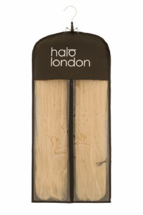 Deluxe Halo Black Style & Store Hanger Set Hair Extensions