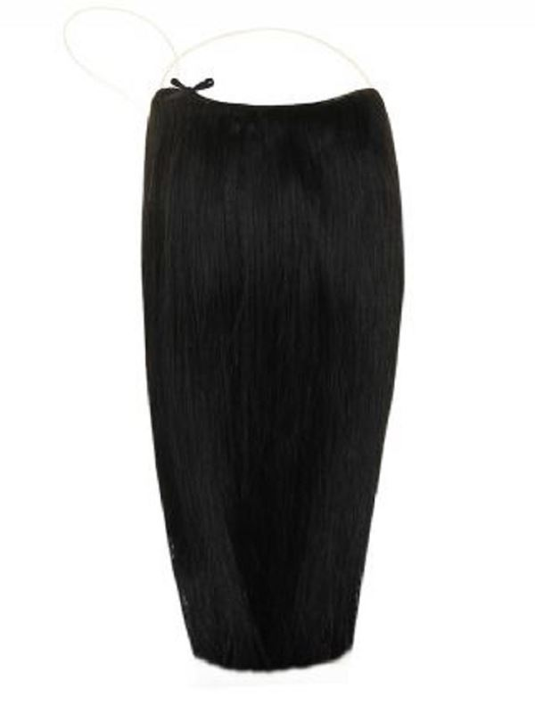 Deluxe Halo Jet Black #1 Hair Extensions
