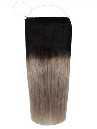 The Halo Midnight Frost Ombre #OM1B/Silver Hair Extensions