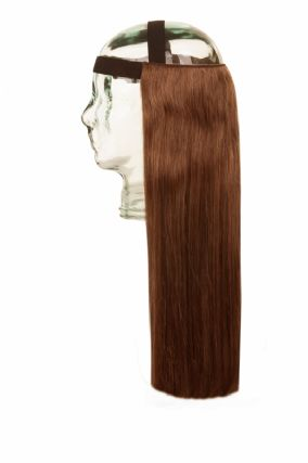 Halo HeadBand Chocolate Brown #4 Hair Extensions