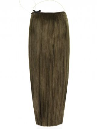 Deluxe Halo Dark Ash Brown #7 Hair Extensions