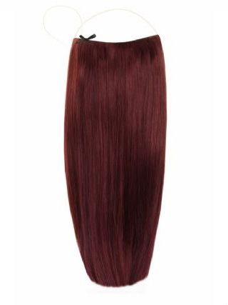 Deluxe Halo Plum #99J Hair Extensions