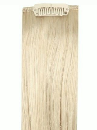 Full Head Clip-In Bleach Blonde #60 Hair Extensions