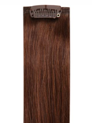 Full Head Clip-In Chocolate Brown #4 Hair Extensions