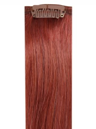 Deluxe Head Clip-In Dark Auburn #33 Hair Extensions