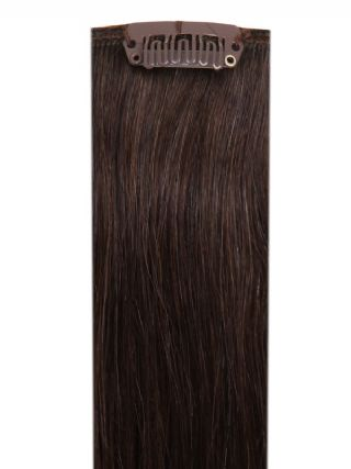 Deluxe Head Clip-In Dark Brown #2 Hair Extensions