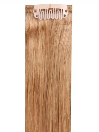 Deluxe Head Clip-In Golden Brown #12 Hair Extensions