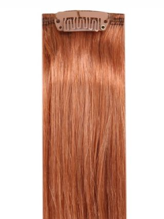 Deluxe Head Clip-In Light Auburn #30 Hair Extensions