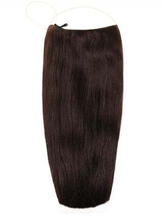 Deluxe Halo Dark Brown #2 Hair Extensions