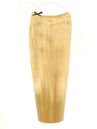 Deluxe Halo Light Blonde #613 Hair Extensions