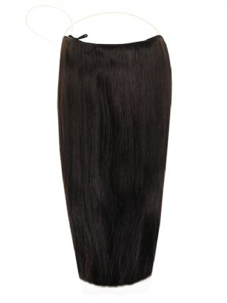 Deluxe Halo Natural Black #1B Hair Extensions