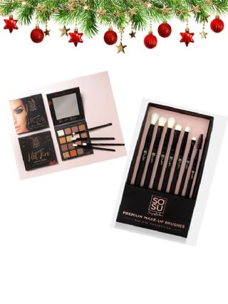 SOSU Xmas Hot Fire Palette & 7 Eye Brush Collection