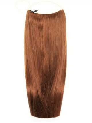 Premium Halo Light Brown #6 Hair Extensions