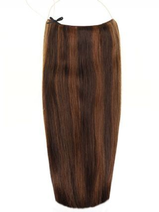 Premium Halo Mixed #2/4 Hair Extensions
