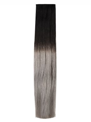 Deluxe Head Clip-In Midnight Frost Ombre #OM1B/Silver Hair Extensions