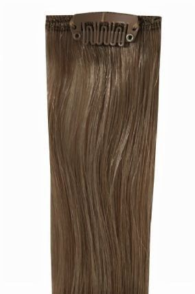 Deluxe Head Clip-In Dark Ash Brown #7 Hair Extensions