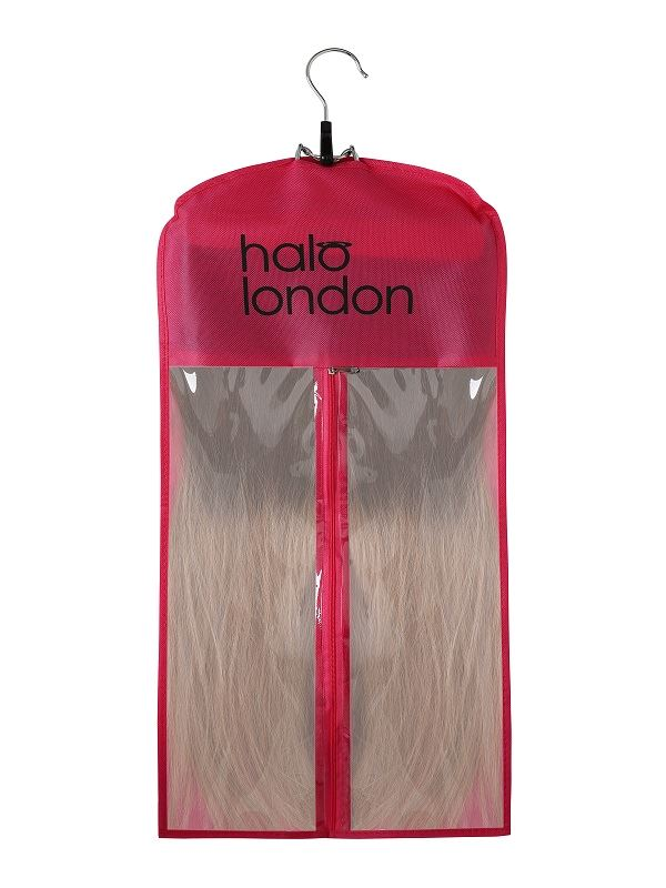 Premium Halo Pink Style & Store Hanger Set Hair Extensions