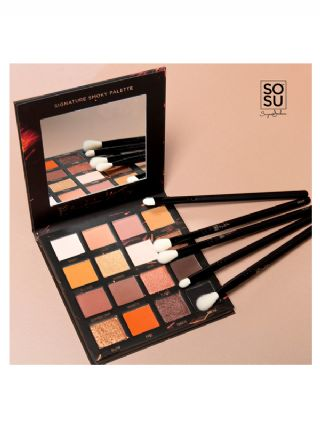 SOSU Hot Fire Palette & 7 Eye Brush Collection