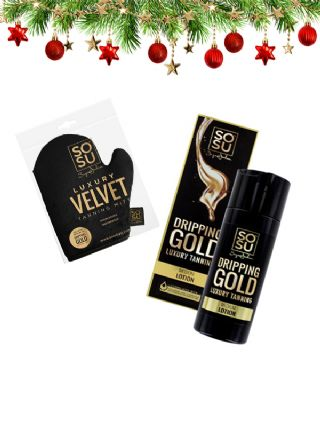 SOSU Xmas Luxury Tanning Lotion Medium (+ Velvet Tanning Mitt)
