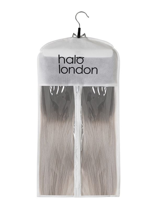 Deluxe Halo White Style & Store Hanger Set Hair Extensions